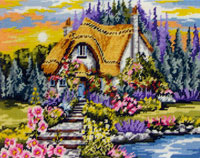 Lakeside Cottage - Anchor Needlepoint Tapestry Kit