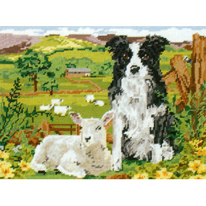 Border Collie and Lamb by Melanie Watkins-Patel - Anchor Needlepoint Tapestry Kit