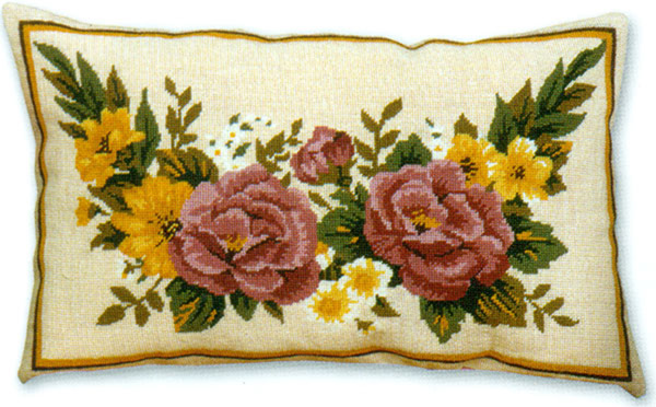 Floral Panel - Anchor Needlepoint Cushion Kit