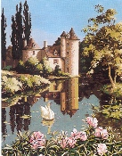 SEG de Paris Needlepoint The Old Manor Canvas