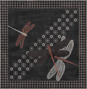 Dragonfly Sari - Hand-Painted Needlepoint Canvas