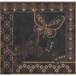 Butterfly Sari - Hand-Painted Needlepoint Canvas