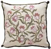 Beth Russell Needlepoint - Flowers Collection - Pink Tulips Cushion - Ivory Background - Kit
