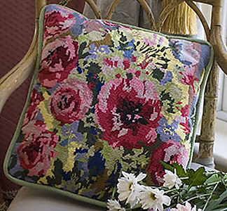 Poppies Needlepoint Cushion Kit from The Purple Tree Collection