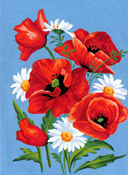 Margot Creations de Paris Needlepoint (Coquelicots) Poppies Small Canvas