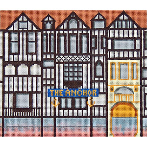 Pub 01 - The Anchor - Hand-Painted Needlepoint Canvas
