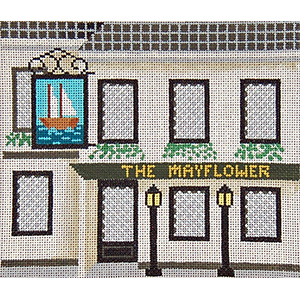 Pub 03 - The Mayflower - Hand-Painted Needlepoint Canvas