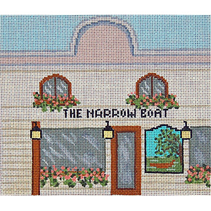 Pub 08 - The Narrow Boat - Hand-Painted Needlepoint Canvas