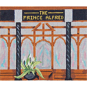 Pub 09 - The Prince Alfred - Hand-Painted Needlepoint Canvas