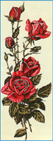 Margot Creations de Paris Needlepoint (Rose Rouge) Red Roses Small Canvas