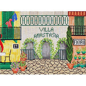 Villa - Hand-Painted Needlepoint Canvas