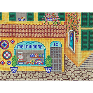 Pottery Shop - Hand-Painted Needlepoint Canvas