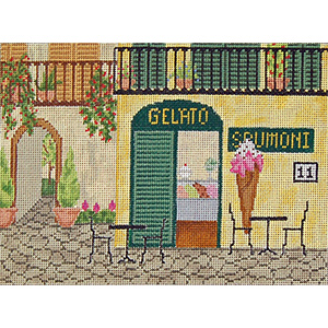 Ice Cream Parlor - Hand-Painted Needlepoint Canvas