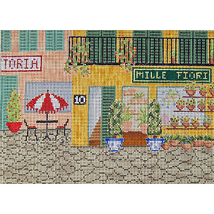 Flower Shop - Hand-Painted Needlepoint Canvas