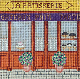 Pastry Shop - Hand-Painted Needlepoint Canvas