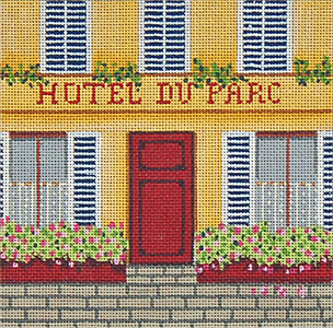 Hotel - Hand-Painted Needlepoint Canvas