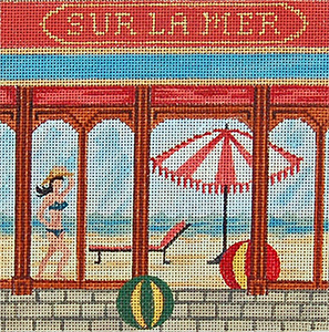 La Mer - Hand-Painted Needlepoint Canvas