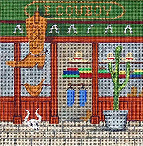 Cowboys - Hand-Painted Needlepoint Canvas