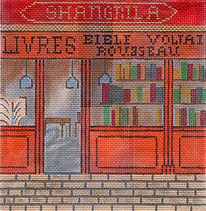 Book Store - Hand-Painted Needlepoint Canvas