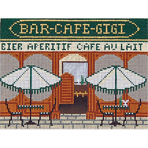 Cafe - Hand-Painted Needlepoint Canvas