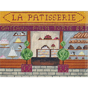 Bakery - Hand-Painted Needlepoint Canvas
