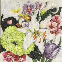 Bedazzled - Stitch Painted Needlepoint Canvas from Sandra Gilmore