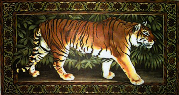 Tiger Needlepoint Rug