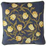 Beth Russell Needlepoint - Flowers Collection - Yellow Tulips Cushion - Blue Background - Kit